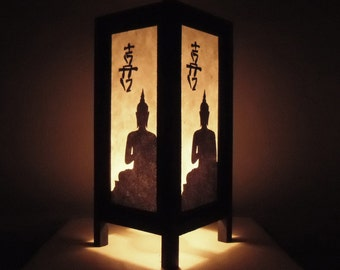Thai Handmade Asian Oriental Chinese Buddha Paper Lamp Bedside Table Light Home Decor Bedroom Decoration Modern Thailand