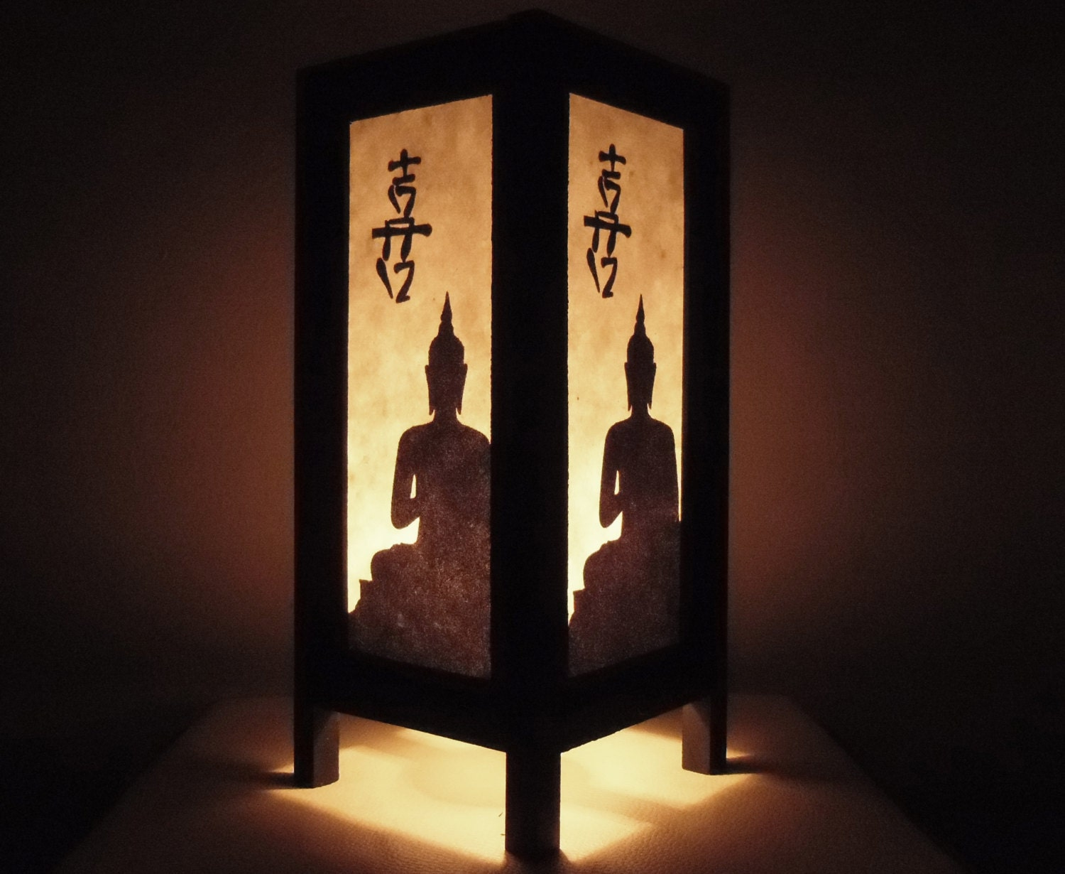 Thai handmade asian oriental chinese buddha paper lamp bedside for Thailand home decor