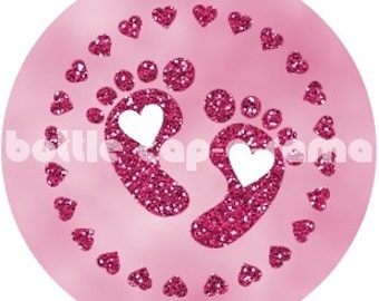 "BABY FEET, Bottle Cap Images, Bottle Cap Designs, Instant Downloads, 1.03"" diameter, 1"" circles"
