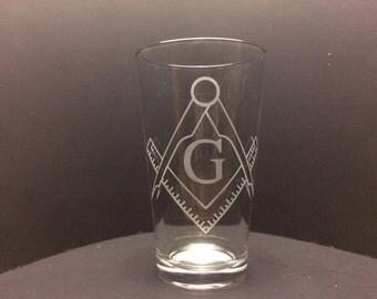 Freemason Etched Glass