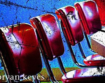 50's diner chairs photograph