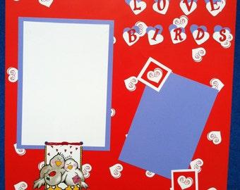 Love Birds Valentine's Day 12x12 Scrapbook Page
