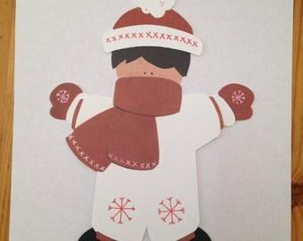 Paper Doll Boy Snow Suit