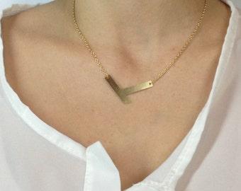 Geometric chevron necklace, minimalist neckllace, tiny necklace, geometric jewelry bib necklace, statement necklace