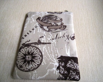 SAMPLE SALE 50% Off Regular Price - Kindle 4 / Kindle Fire / Kindle Touch / Kindle Paperwhite Sleeve Case Bag Cover - Old World Map