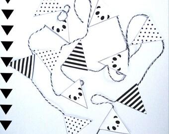Panda paper garland/ flag line/ Party DIY Download