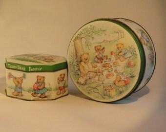 Tin boxes -  Teddy Bear Family