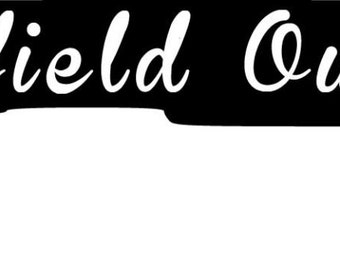 Oilfield Outlaw Double Barrel Shot Gun Decal With Derrick
