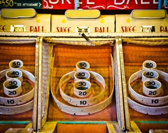 Skee Ball #1, Vintage Boardwalk Game Photograph, Ocean City, Fun, Fine Art, Pop Art, Nursery Wall Art, Home Decor, Classic, Carnival,