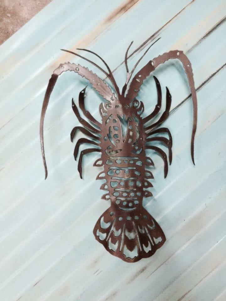Fish wall art lobster art metal art by islandlifemetalworks for Fish wall sculptures