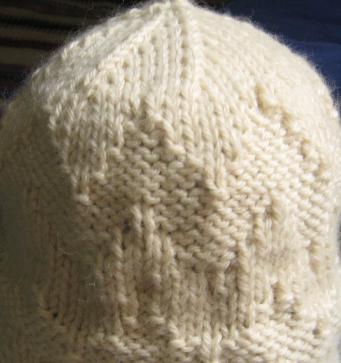 Easy Tea Cozy Knitting Pattern : Hat with Chevron design Pattern for bulky yarn by LuceKnotsYarn