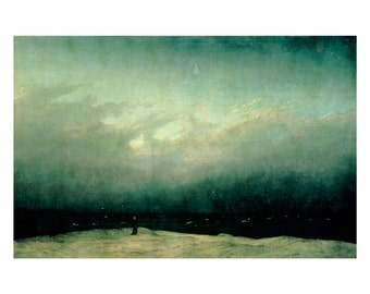 Friedrich - Monk by the Sea landscape beautiful fine art print in choice of sizes