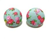Cute handmade button earrings