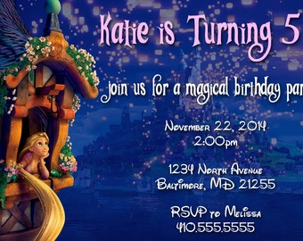 Print Your Own Personalized Tangled Invitation