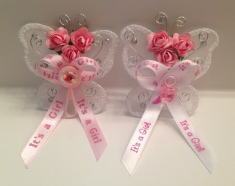 24 butterfly baby shower corsage favors