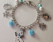 Disney Frozen Olaf, Anna and Elsa Charm Bracelet