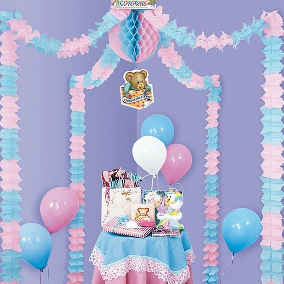 Baby shower canopy decorating kit 20 feet by partyspin on etsy for Baby shower canopy decoration