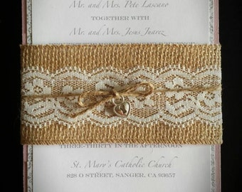 Elegant Rustic Wedding Invitation