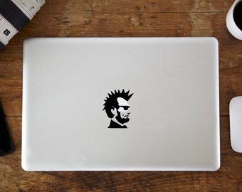 Punk Abraham Lincoln MacBook Decal