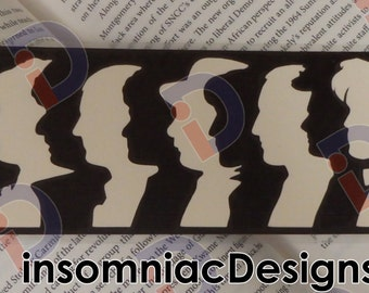 Dr Who Bookmark: 12 Doctors