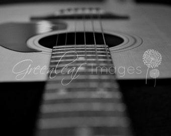 "11"" x 14""  Matte Black and White Guitar Photo Series - SET OF 3 PHOTOS - Guitar photos"