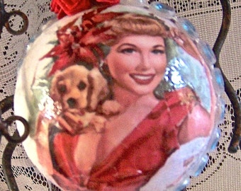 The vintage ornament is for still for sale but a new sphere can be personalized with a cherished photo.  See below*: