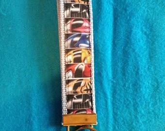 Power Rangers wristlet key fob keychain