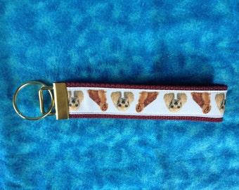 Cocker Spanielwristlet key fob holder keychain