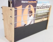 Oak Slate Design Magazine Rack - Modern Contemporary Style