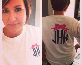 Monogrammed Bow Shirt
