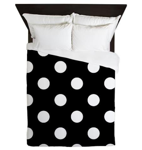 couette couverture noir et blanc pois pois couette. Black Bedroom Furniture Sets. Home Design Ideas