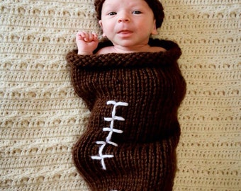 Football baby cocoon