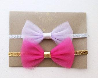 Set of 2 Jasmine Tulle Bow Headbands Copy