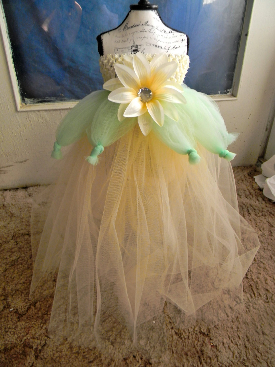 Tiana Inspired Flower Girl Dress Baby Tutu by Sapphire51Tutus
