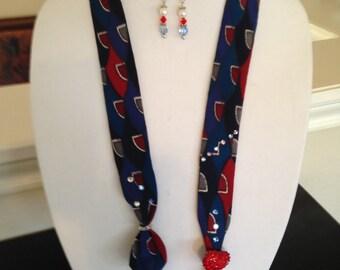 Vintage tie necklace/scarf