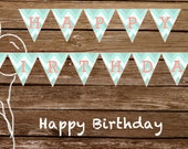Happy Birthday Banner - CUSTOM - Print At Home
