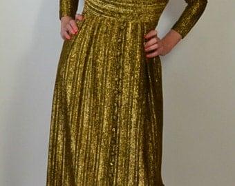Gold Disco Dress