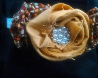 Gold Leaf Baby Headband