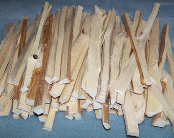 50 Hickory Wood SPLITS Smoking Meat BBQ Grilling Cooking Tailgating - No Bark - Carya laciniosa or Carya ovata