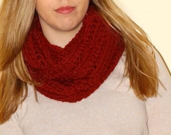 Infinity wool scarf