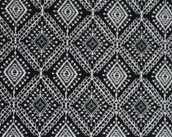 Ponte Knit Diamond Lace Print Fabric