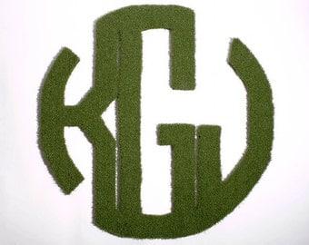 Monogram Synthetic Grass Doormat | Rug | Wall Art Decor
