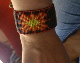 Hand-woven beaded bracelet/Loom beaded bracelet