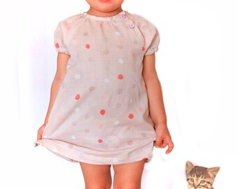 Julia Blouse and Dress: PDF Pattern Direct Dowload sizes 2-10 years with detailed instructions in English + NEW dress version supplement