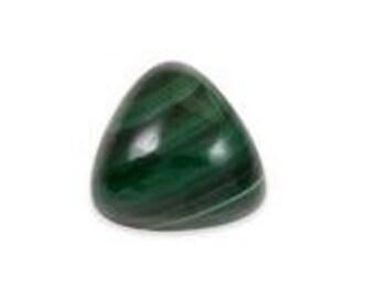 African Malachite Trillion Cabochon Loose Gemstone 1A Quality 8mm TGW 2.25 cts.