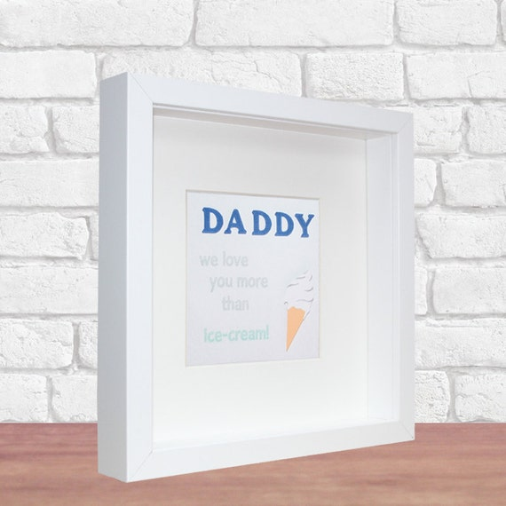 I Love You More Than Ice Cream: Daddy We Love You More Than Ice-cream 3D Paper Art By
