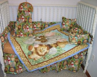 New Jungle Animals Crib Nursery Bedding Set