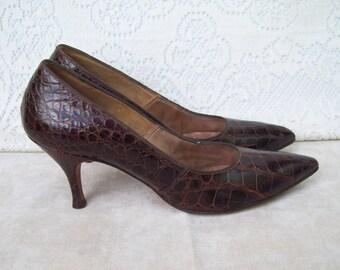Alligator heels size 5 1/2 vintage