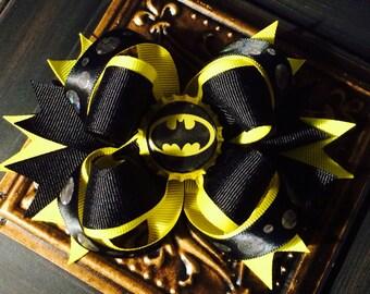 Batman Hair Bow