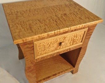 Solid wood curly maple nightstand (2 of 2)